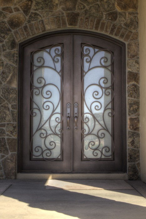 Double Doors & Artisan Iron Doors